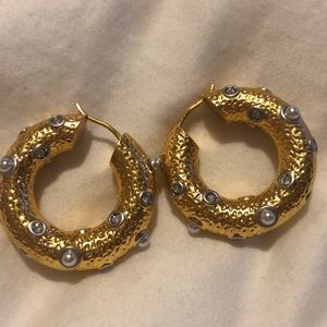 Cèline Byzantine gold tone earrings